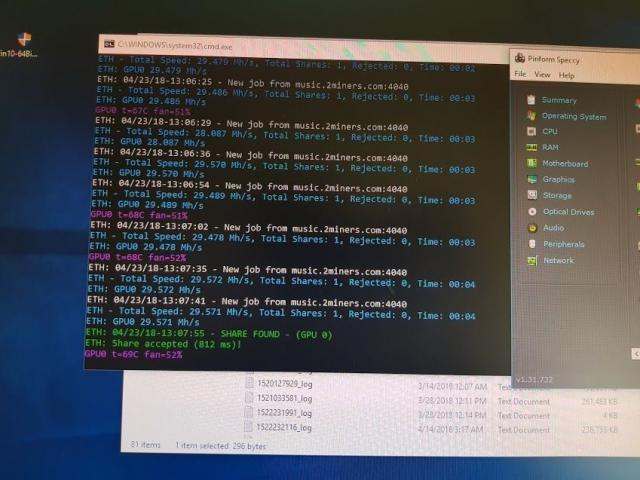 Mining rig rx 580 8gb - OPIS